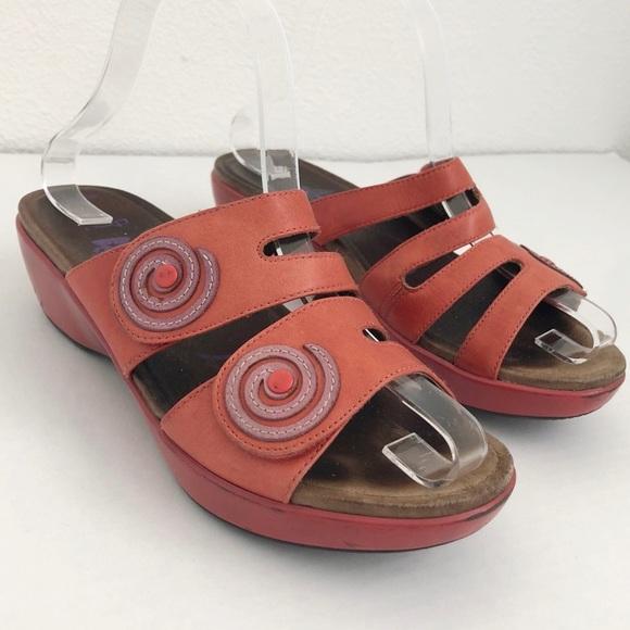 89f0cfc45d DANSKO Dixie Red Comfort Clog Sandal Size 37